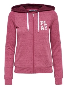 Only Play Sport vest onpHALLE HOOD ZIP SWEAT 15149101 Fruit Dove/RHODODENR