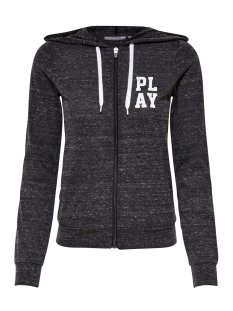 Only Play Sport vest onpHALLE HOOD ZIP SWEAT 15149101 Black/ MELANGE