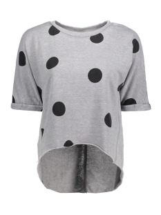 Only Sweater onlSIENNE S/S O-NECK SWT 15156784 Sharkskin/ dots