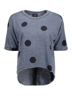 Only Sweater onlSIENNE S/S O-NECK SWT 15156784 Night Sky/Dots