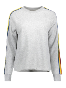 Noisy may Trui NMPAMELA L/S SWEAT 5 27003255 Light Grey Melange/Multicolor