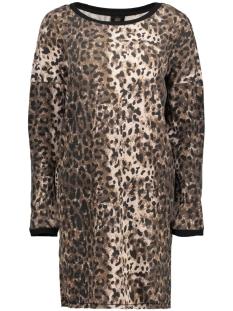 Only Jurk onlPOPPY L/S SLEEVE DRESS SWT 15162417 Praline/LEO PRALINE