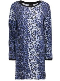 Only Jurk onlPOPPY L/S SLEEVE DRESS SWT 15162417 Blueprint/LEO BLUEPRINT