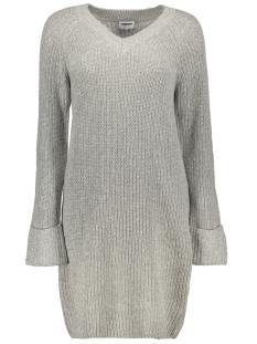 Noisy may Jurk NMSIESTA L/S V-NECK KNIT DRESS 5 27003119 Light Grey Melange