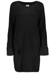 Noisy may Jurk NMSIESTA L/S V-NECK KNIT DRESS 5 27003119 Black