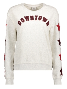 Only Sweater onlANNA  TERRY  L/S O-NECK BOX SWT 15162878 Oatmeal/DOWNTOWN