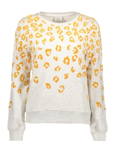 Only Sweater onlANNA MADISON L/S O-NECK SWT 15162035 Oatmeal/LEOPARD