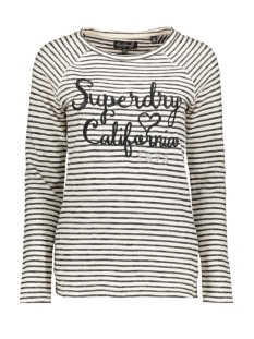 Superdry Trui BLOSSOM RAGLAN APPLIQUE TO G60001BR BLACK STRIPE