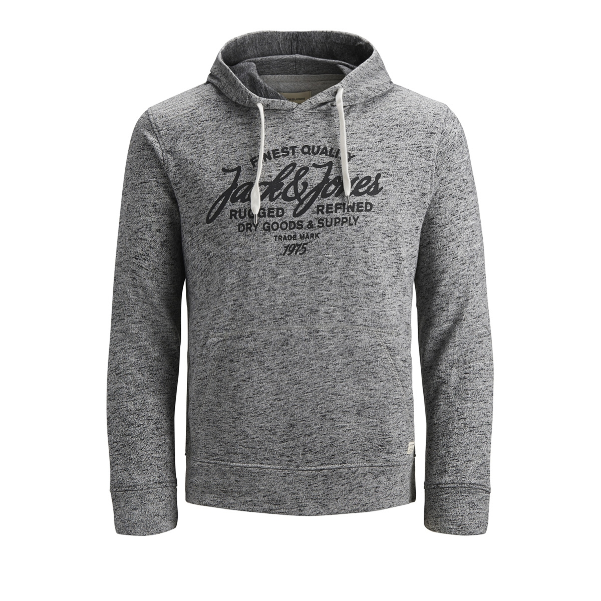 jjepanther sweat hood noos 12141011 jack & jones sweater light grey/reg fit