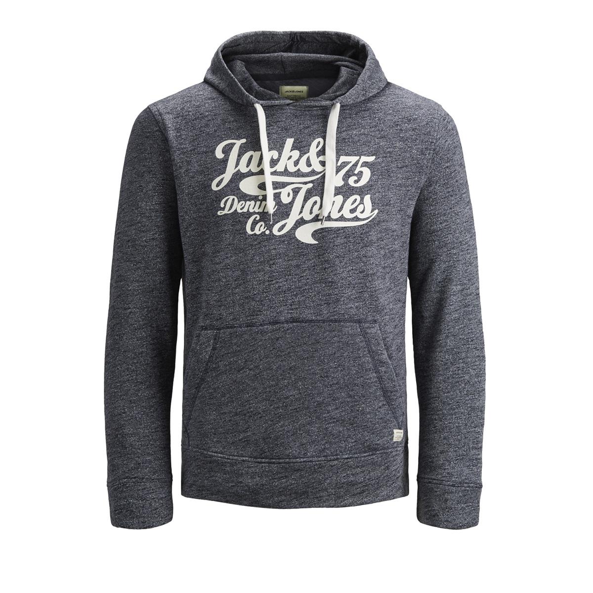 jjepanther sweat hood noos 12141011 jack & jones sweater navy blazer/reg fit