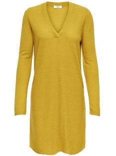 Jacqueline de Yong Jurk JDYMATHISON L/S V-NECK DRESS 15154634 Golden Spice