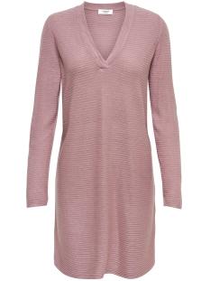 Jacqueline de Yong Jurk JDYMATHISON L/S V-NECK DRESS 15154634 Nostalgia Rose