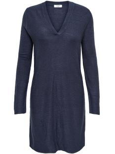 Jacqueline de Yong Jurk JDYMATHISON L/S V-NECK DRESS 15154634 Peacoat