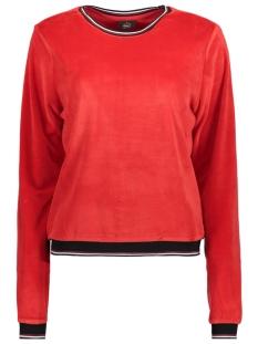 Only Sweater onlCHARLOTTE VELVET L/S O-NECK SWT 15162066 Goji Berry