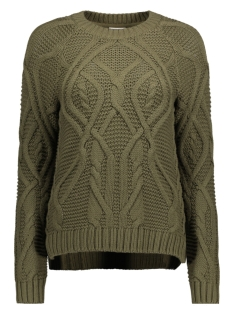 Noisy may Trui NMCARINA L/S O-NECK KNIT 6B 27003872 Dusty Olive