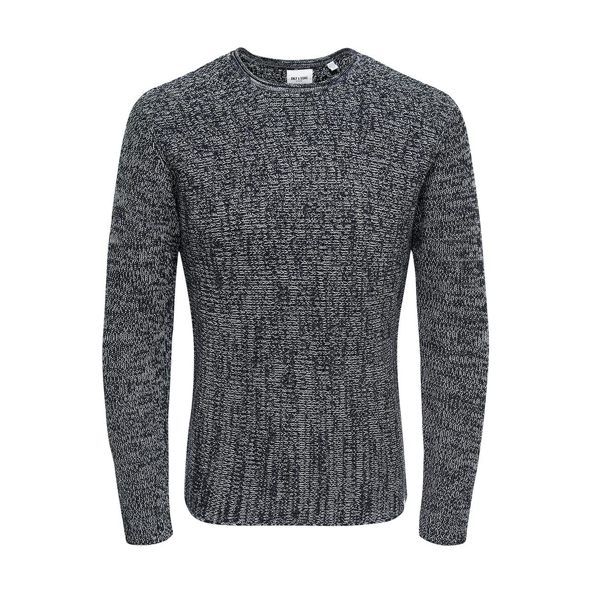 onssato 5 multi clr knit noos 22007296 only & sons trui dress blue/melange