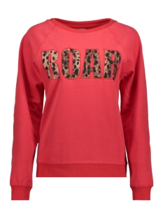 Only Sweater onlTESSA L/S O-NECK PRINT BOX SWT 15162061 Goji Berry/ROAR