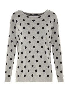 Vero Moda Trui VMDOTTY LS OVERSIZE BOATNECK BLOUSE 10201608 Light Grey Melange