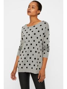 vmdotty ls oversize boatneck blouse 10201608 vero moda trui light grey melange