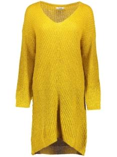 Jacqueline de Yong Jurk JDYMEGAN V-NECK DRESS KNT 15160959 Golden Spice/W.BLACK
