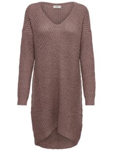 Jacqueline de Yong Jurk JDYMEGAN V-NECK DRESS KNT 15160959 Nostalgia Rose/W. BLACK