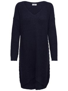 Jacqueline de Yong Jurk JDYMEGAN V-NECK DRESS KNT 15160959 Night Sky/W. BLACK