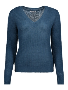 Pieces Trui PCFINOLA LS WOOL V-NECK KNIT 17091159 Legion Blue