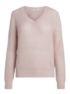 Pieces Trui PCFINOLA LS WOOL V-NECK KNIT 17091159 Peachskin