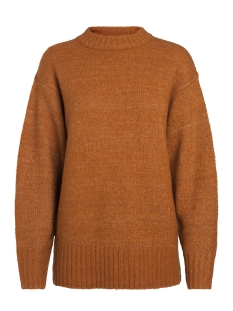 pcabby ls glitter wool knit 17086162 pieces trui leather brown