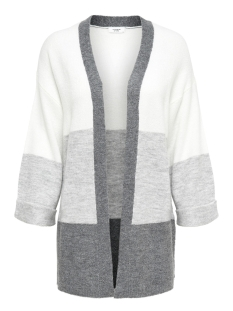 Jacqueline de Yong Vest JDYELANOR FOLD UP CARDIGAN KNT 15155110 Cloud Dancer