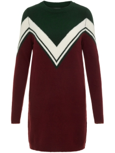 Noisy may Jurk NMBOW L/S KNIT DRESS 5 27003110 Pine Grove/SNOW WHITE