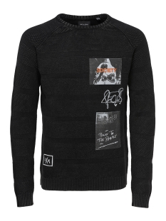 Only & Sons Trui onsPIXAM STRUCTURE PRINTED KNIT 22011025 Black