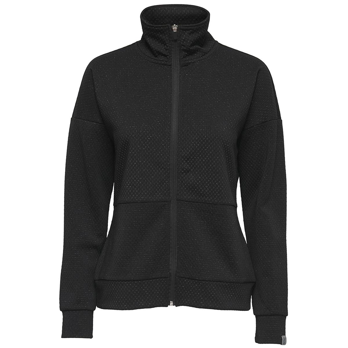 onpregina glitter zip sweat 15154991 only play sport vest black/w. glitter