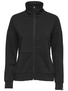 Only Play Sport vest onpREGINA GLITTER ZIP SWEAT 15154991 Black/W. GLITTER