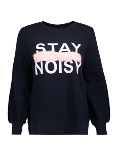 Noisy may Sweater NMGABBITA L/S FUR SWEAT 6 27004088 Night Sky/PINK FAKE