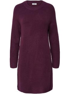 Jacqueline de Yong Jurk JDYSUGAR L/S DRESS KNT HNN 15158313 Red Plum