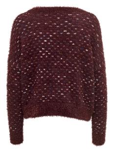 onlotta l/s pullover knt 15160706 only trui chocolate truff/ w. barouqe