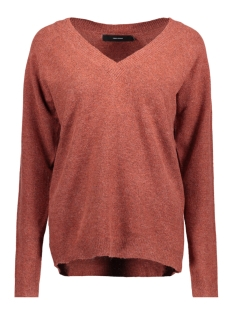 Vero Moda Trui VMBRILLIANT LS V-NECK BLOUSE COLOR 10203222 Ketchup