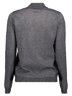 vmkaris lurex ls highneck blouse 10205096 vero moda trui black/w. silver