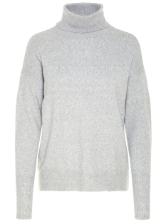 Vero Moda Trui VMBRILLIANT LS ROLLNECK BLOUSE NOOS 10199751 Light Grey Melange