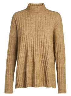 Pieces Trui PCSANNI LS WOOL  KNIT NOOS 17090107 Nugget Gold/MELANGE