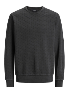 Jack & Jones Sweater JPRDAVID AOP SWEAT CREW NECK 12139377 Caviar/SLIM FIT