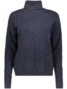 vmbrilliant ls rollneck blouse colo 10202856 vero moda trui night sky/melange