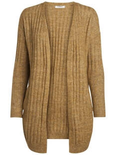 pcsanni ls wool knit cardigan noos 17090108 pieces vest nugget gold/melange