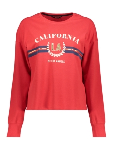 Only Sweater onlCALIFORNIA PRINT L/S  SWT 15177506 Mars Red/CALIFORNIA