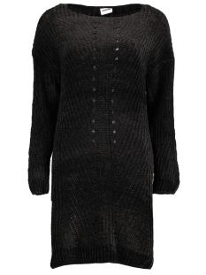 Noisy may Jurk NMMARIA L/S BOATNECK KNIT DRESS 6B 27003856 Black