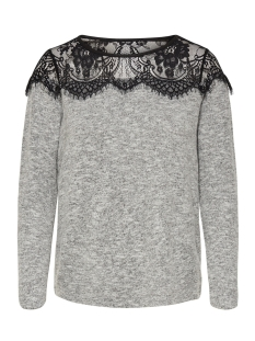 Only Trui onlIDAHO LACE L/S PULLOVER KNT NOOS 15147121 Light Grey Melange