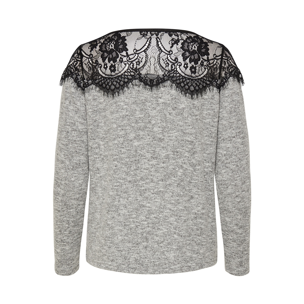 onlidaho lace l/s pullover knt noos 15147121 only trui light grey melange