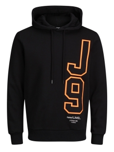 Jack & Jones Sweater JCODELIC SWEAT HOOD 12141246 Black