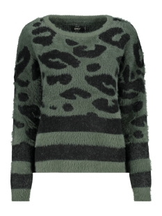 Only Trui onlELLI L/S PULLOVER BOX KNT 15160812 Green Gables